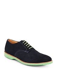 Walk Over Chase Suede Lace Up Oxfords Navy