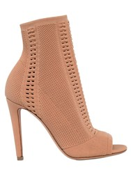 Gianvito Rossi 100Mm Stretch Knit Open Toe Booties
