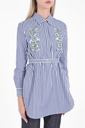 Adam By Adam Lippes Women S Embroidered Striped Shirt Boutique1 Multi Stripe