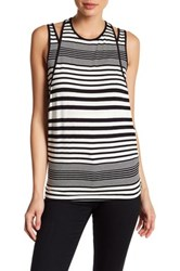 Three Dots Ronit Double Layer Tank Black