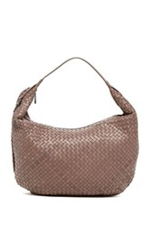 Christopher Kon Woven Leather Hobo Beige