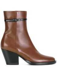 A.F.Vandevorst Thin Buckle Boots Brown