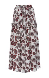 Dodo Bar Or Stevie Paisley Tiered Maxi Skirt Print