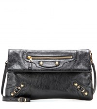 Balenciaga Giant 12 Envelope Leather Clutch Black