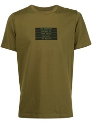 Oamc Quote Print T Shirt Green