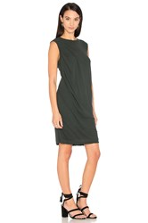 James Perse Tucked Shift Dress Black