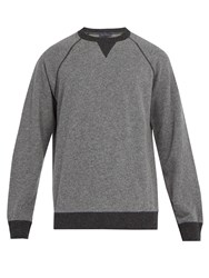 Thom Sweeney Crew Neck Cashmere And Wool Blend Sweater Grey