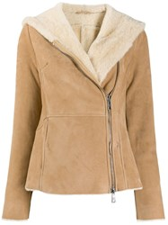 Giorgio Brato Shearling Lined Hooded Jacket 60