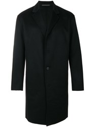 Theory Double Faced Top Coat Polyester Cashmere Bemberg S Black
