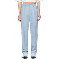 Haider Ackermann Blue High Waist Trousers