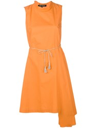 Ter Et Bantine Asymmetric Hem Dress Yellow And Orange
