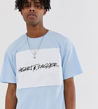 Heart And Dagger T Shirt With Chest Print In Blue