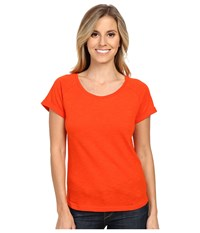 Ariat Inwood Top Hot Spark Women's Short Sleeve Pullover Orange