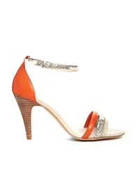 Aldo Single Sole Orange Strap Sandals Nudeorange