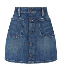Denim And Supply Ralph Lauren Maclaren Button Front Skirt Female Blue