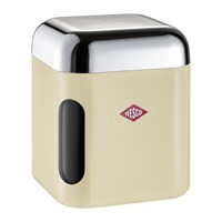 Wesco Square Canister With Window Almond