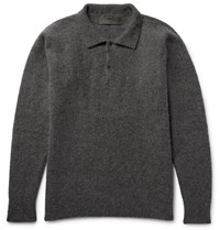 The Elder Statesman Stretch Cashmere Blend Sweater Gray