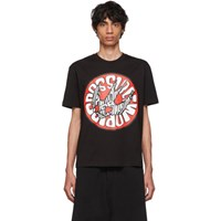 Mcq By Alexander Mcqueen Black Swallow Graphic T Shirt