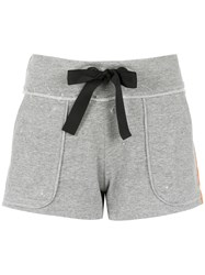 Andrea Bogosian Striped Sweatshorts Grey
