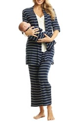 Everly Grey Roxanne During And After 5 Piece Maternity Sleepwear Set