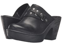 Born Marney Black Full Grain Leather Women's Clog Shoes
