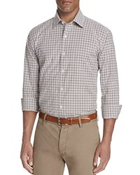 Bloomingdale's The Men's Store At Plaid Classic Fit Button Down Shirt Raisin Heather Grey
