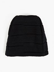 S.N.S. Herning Black Wool Classic Beanie Hat