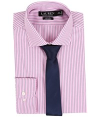 Lauren Ralph Lauren Slim Estate Collar Pink White Bond Men's Long Sleeve Button Up