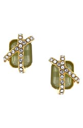 Women's Louise Et Cie Stone And Crystal Stud Earrings