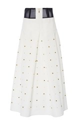 Tibi Charlotte Beaded Full Skirt Ivory