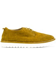 Marsell Platform Lace Up Shoes Women Leather Rubber 39 Yellow Orange