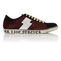 Amiri Viper Calf Hair And Suede Sneakers Red