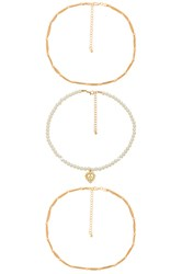 8 Other Reasons Queen Necklace Metallic Gold
