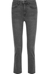 Iris And Ink Toni Cropped High Rise Slim Leg Jeans Anthracite