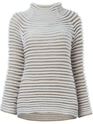 Roberto Capucci Ribbed Sweater Nude And Neutrals