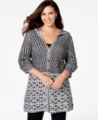 Styleandco. Style And Co. Plus Size Textured Hooded Flyaway Cardigan Only At Macy's