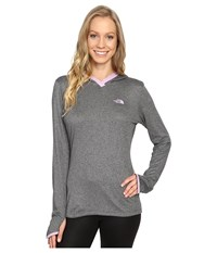 The North Face Reactor Hoodie Tnf Medium Grey Heather Lupine Women's Sweatshirt Gray
