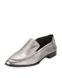 Rag And Bone Alix Metallic Leather Convertible Loafer Silver