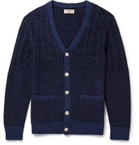 J.Crew Cable Knit Cotton Cardigan Blue