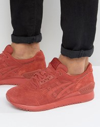 Asics Gel Respector Suede Trainers In Red H721l 2727 Red