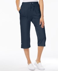 Karen Scott Petite Drawstring Capri Pants Only At Macy's Intrepid Blue
