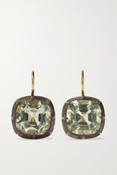 Fred Leighton Collection Silver Topped 18 Karat Gold Quartz Earrings