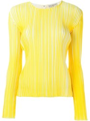 Emilio Pucci Long Sleeve T Shirt Yellow And Orange