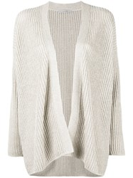 Dusan Relaxed Fit Open Cardigan Nude Neutrals