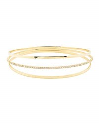 Lana Flawless Vol 6 14K Gold Triple Link Bangle Bracelet