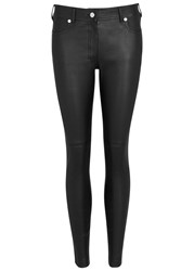 Givenchy Black Skinny Leather Trousers