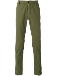 Ermanno Scervino Slim Fit Chinos Men Cotton Spandex Elastane 48 Green