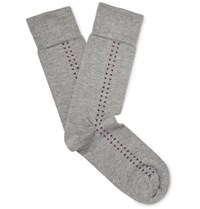 John Smedley Holden Sea Island Cotton Blend Socks Gray