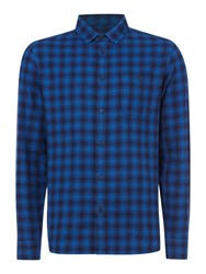 Criminal Lawrence Check Long Sleeve Shirt Blue
