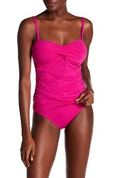 Tommy Bahama Pearl Twist Front Tankini Top Red